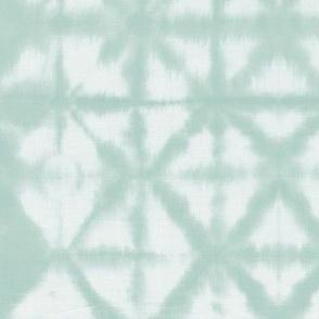 Soft tie dye boho texture summer shibori traditional Japanese neutral cotton print soft mint green