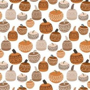 SMALL mudcloth pumpkins - earth toned fall halloween fabric - cinnamon