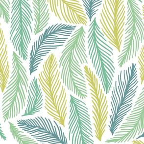 Endless green leaves