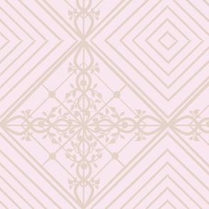 Deco Meets Nouveau Blush and Tan