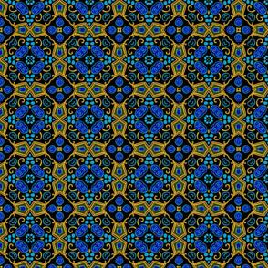 Painted Folk Adalyn Blue Tile, 4 inch