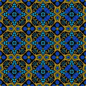 Painted Folk Adalyn Blue Tile, 6 inch