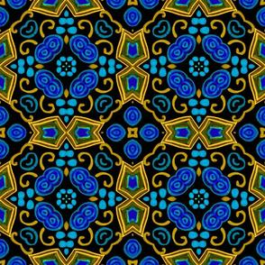Painted Folk Adalyn Blue Tile, 9 inch