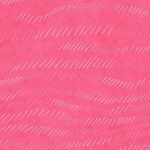 Hot pink textured waves