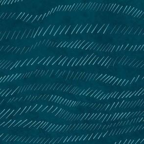 Denim blue monochrome sketched wave
