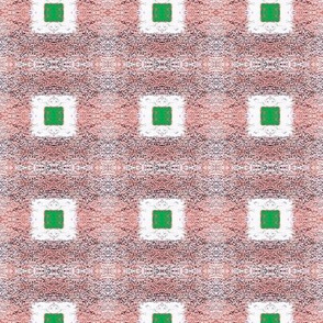 Square Green  Middles -pixilated white