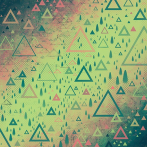 Abstract Mountain Forest