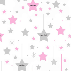 Pink Twinkle Sleepy Star Baby Girl