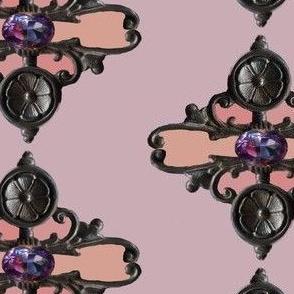 Victorian iron on Pink