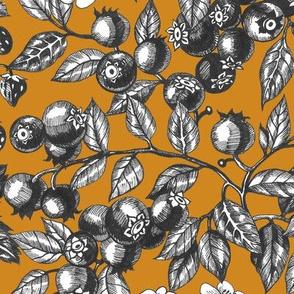 Graphic Berries Mustard