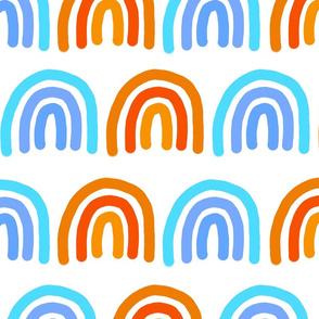 Blue and Orange Rainbows
