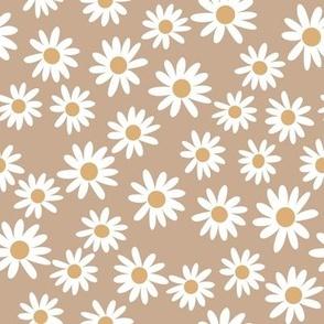 daisy fabric - fall 2020 camel