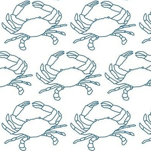 large crabs with navy outline