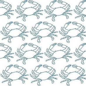 medium crabs with navy outline