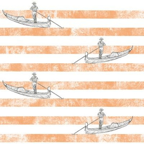 Gondoliers' Orange Stripes 8""
