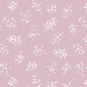 Petals and flowers boho summer garden poppy love neutral nursery lilac rose