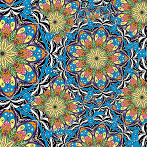 Colourful mandala,boho pattern