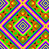 Folk Rainbow Pyramid - Romb Mandala Pattern - First Colorful Symbol