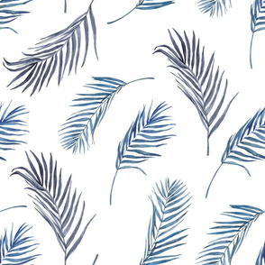 "18"" Blue Palm Leaves"