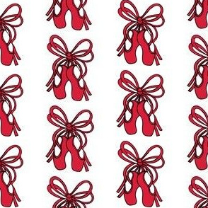 Red ballet shoes print