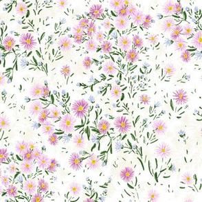 """Northern Asters (white) 9"""""""