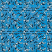 Whales tiled