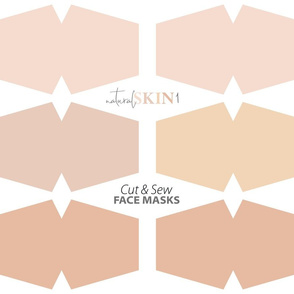 Natural skin face mask cut out fabric panel // light skin tones