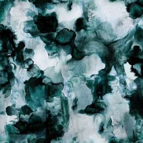 teal watercolor: small