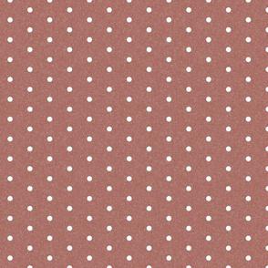 mini dots fabric - minimal dot, swiss dots - sfx1443 redwood