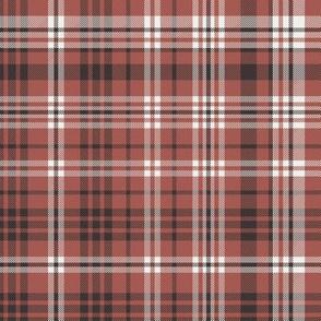 fall plaid fabric - redwood