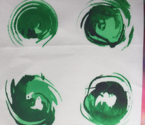 Forest green watercolour faces