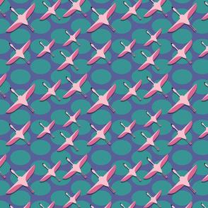 Bird fabric pattern 03