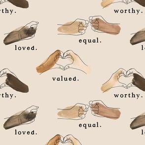 Black lives matter // Affirm on light nude beige