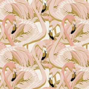 golden flamingo linen