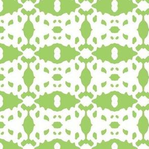 Modern Brocade Mini - apple green