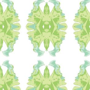 Lepidoptera - green and aqua