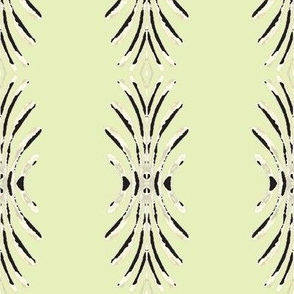 Plume in white, black and pale green