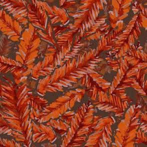 Redwood Leaves Autumn Colors