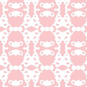Modern Brocade - pink and white