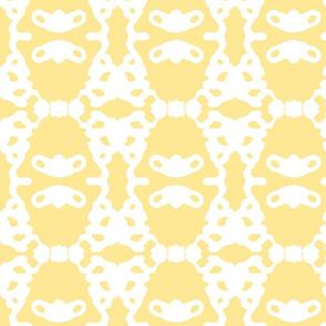 Modern Brocade - yellow and white