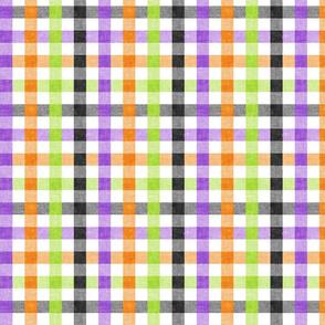 halloween plaid - purple green black orange  - LAD20