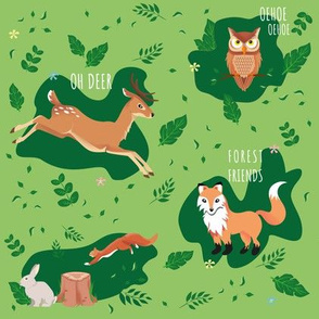 Forest Friends pattern illustration