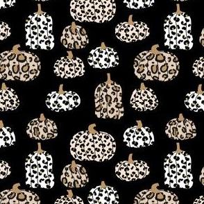 leopard pumpkins  - thanksgiving fall fabric  - black