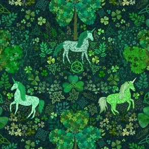 Irish Unicorns in the Celtic Woods (tiny scale)