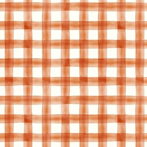 (small scale) Pumpkin Spice watercolor plaid - fall - thanksgiving  - C20BS