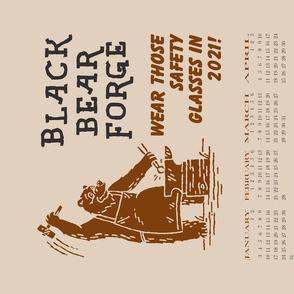 Black Bear Forge 2021 tea towel  calendar