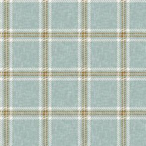 Fall plaid -  double window pane plaid -  dusty blue - LAD20