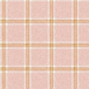 Fall plaid -  double window pane plaid -  blush - LAD20