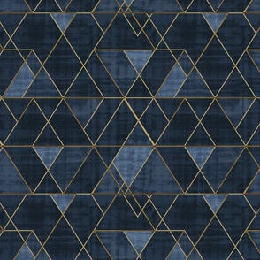 Mod Triangles Navy + gold
