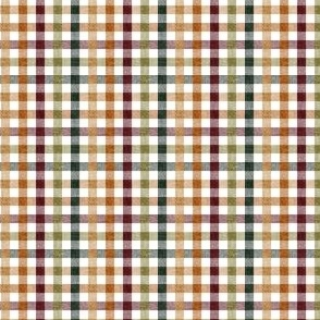(extra small scale) fall plaid - thanksgiving fall colors  (green) - LAD20BS